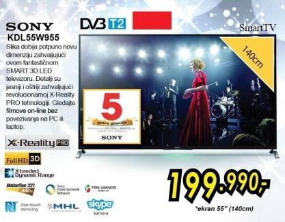 """Televizor LED 55"""" Kdl55w955"""