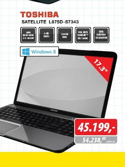 Laptop satellite L875D S7343