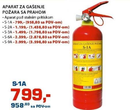 Aparat za gašenje požara s prahom S-2A