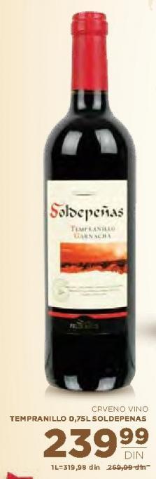 Crveno vino Tempranillo