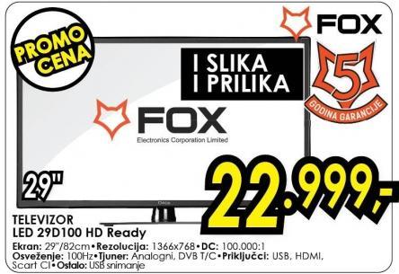 """Televizor LED 29"""" 29d100"""
