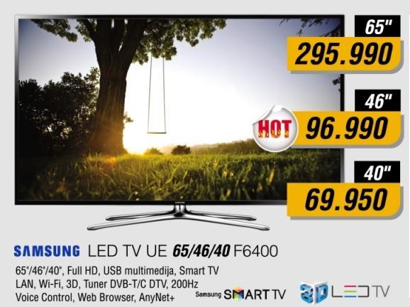 "Televizor LED 65"" Ue65f6400"