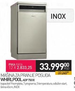 Mašina za pranje posuđa Adp750ix