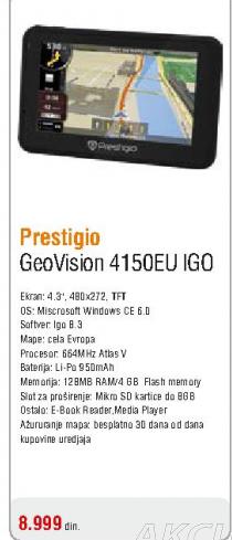 Auto navigacija Geovision 4150EU IGO GPS