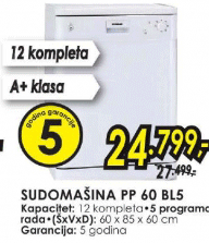 Sudomašina PP 60.BL5