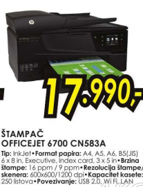 Štampač Officejet 6700 , CN583A
