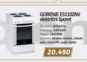 Šporet E51102Aw
