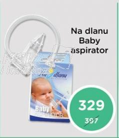 Na dlanu bebi aspirator