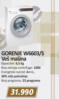Veš mašina W6603