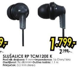 Slušalice RP TCM120E K