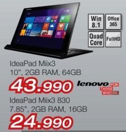 Laptop Ideapad Miix3 830