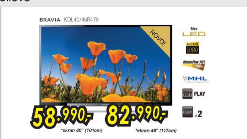 Televizor LED LCD KDL-40R470ABAEP