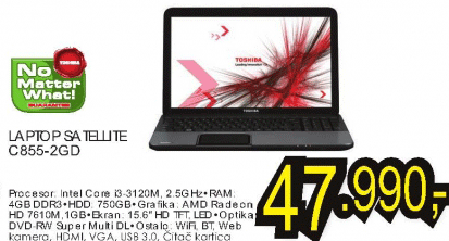 Laptop Satellite C855-2GD