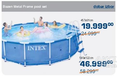 Bazen metal frame pool set