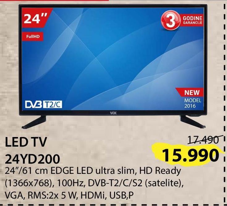 """Televizor LED 24"""" 24YD200"""