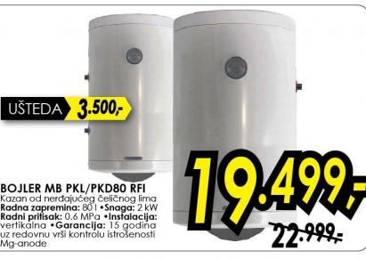 Bojler MB PKL/PKD80 RFI