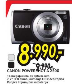 Digitalni fotoaparat PowerShot A 2500 RE/BK
