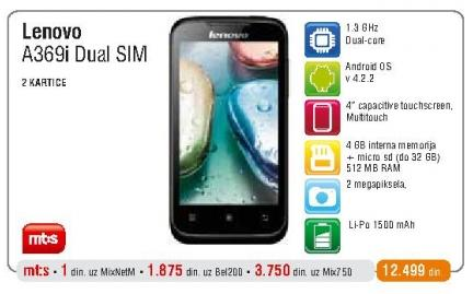 Mobilni telefon A369i DualSim