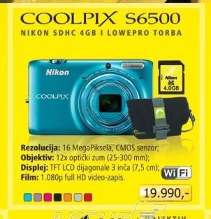 Fotoaparat digitalni S6500