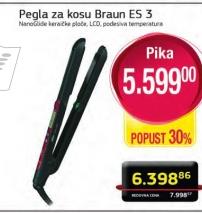Pegla za kosu ES 3