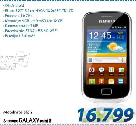 Mobilni telefon S6500D GALAXY MINI2 Y