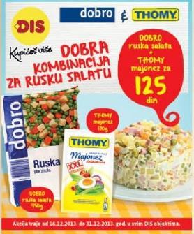 Dobra kombinacija za rusku salatu