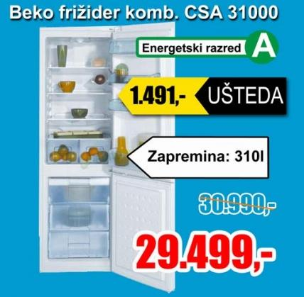 Frižider kombinovani CSA 31000