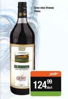 Crno vino Vranac