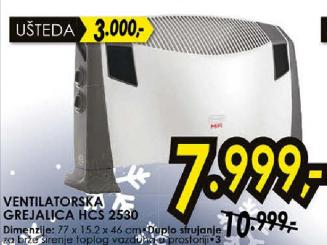 Ventilatorska grejalica HCS 2530