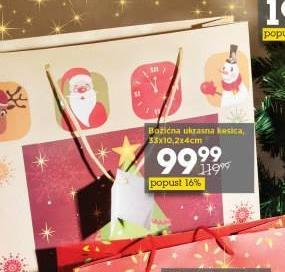 Božićna ukrasna kesica