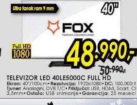 Televizor LED LCD 40LE5000C FHD LIGHT