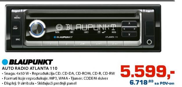 Auto radio Atlanta 110