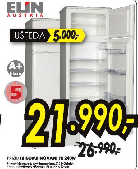 Kombinovani frižider  FR 240