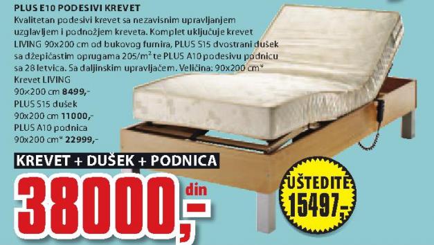 Podesivi krevet Plus E10
