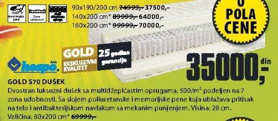 Dušek Gold S70 HESPO
