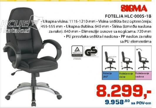 Fotelja HLC-0005-1B