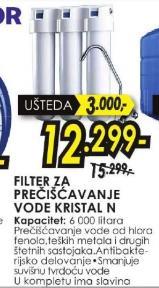 Filter za prečišćavanje vode Cristal