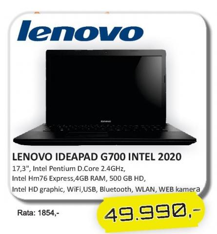 Laptop IdeaPad G700 Intel 2020