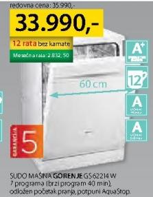 Sudomašina GS62214W