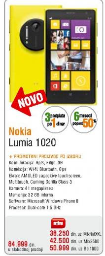 Telefon mobilni Lumia 1020
