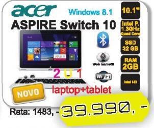 Notebook Aspire Switch 10