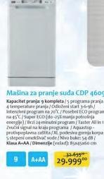 Mašina Za Sudove CDP 4609