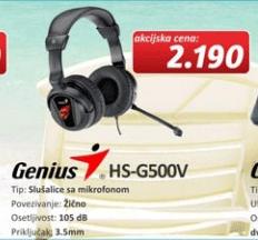 Slušalice sa mikrofonom Genius HS-G500V
