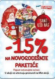 - 15% na novogodišnje paketiće