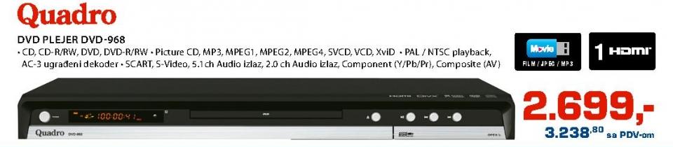 Dvd Plejer Dvd-968