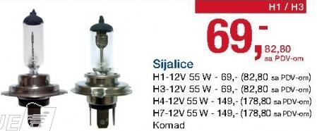 Sijalica H7-12V 55 W