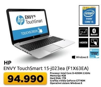 Laptop Envy TouchSmart 15-j023ea F1X63EA
