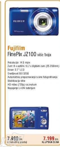 Fotoaparat FInepix JZ100
