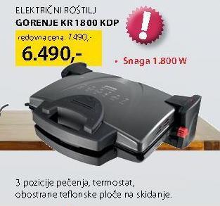 Električni roštilj Kr 1800 Kdp