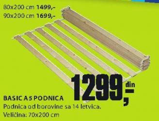Podnica Basic A5 80x200